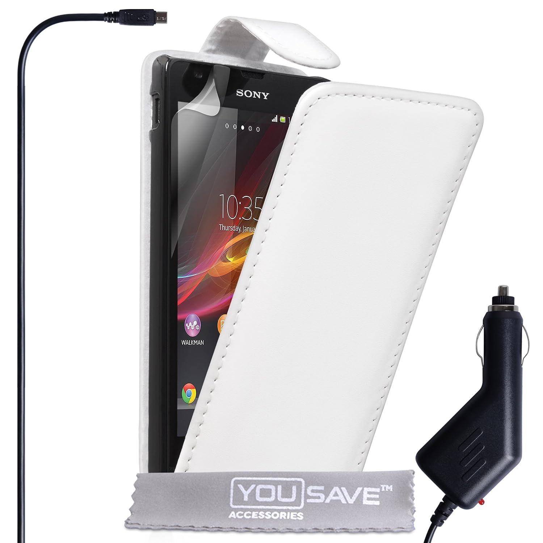 Yousave Accessories® Funda con tapa para Sony Xperia SP ...