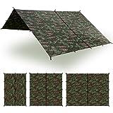 Aqua Quest Safari Tarp - 100% Waterproof Lightweight SilNylon Bushcraft Camping Shelter - 10x7, 10x10, 13x10, 20x13 ft Olive