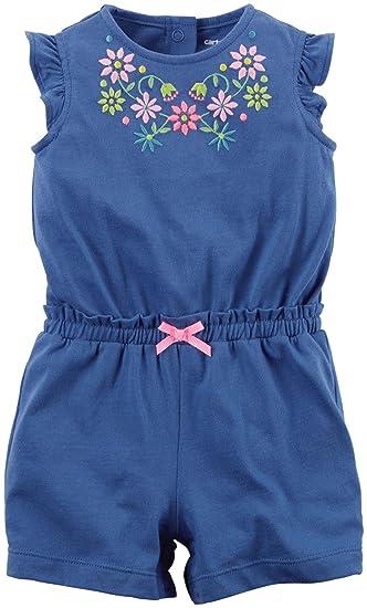 453e3a9fb9e84c Carter s Jumpsuit Baby Sommer Overall Einteiler Body Mädchen girl onesie   Amazon.de  Bekleidung