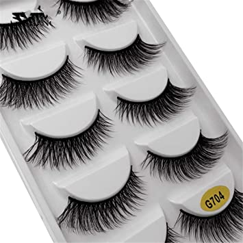 784e493f2c2 Amazon.com : 1 Box Mink Eyelashes Natural Long False Eyelashes Makeup Strip 3D  Mink Lashes Make Up Fake Eye Lashes Lash G704 : Beauty