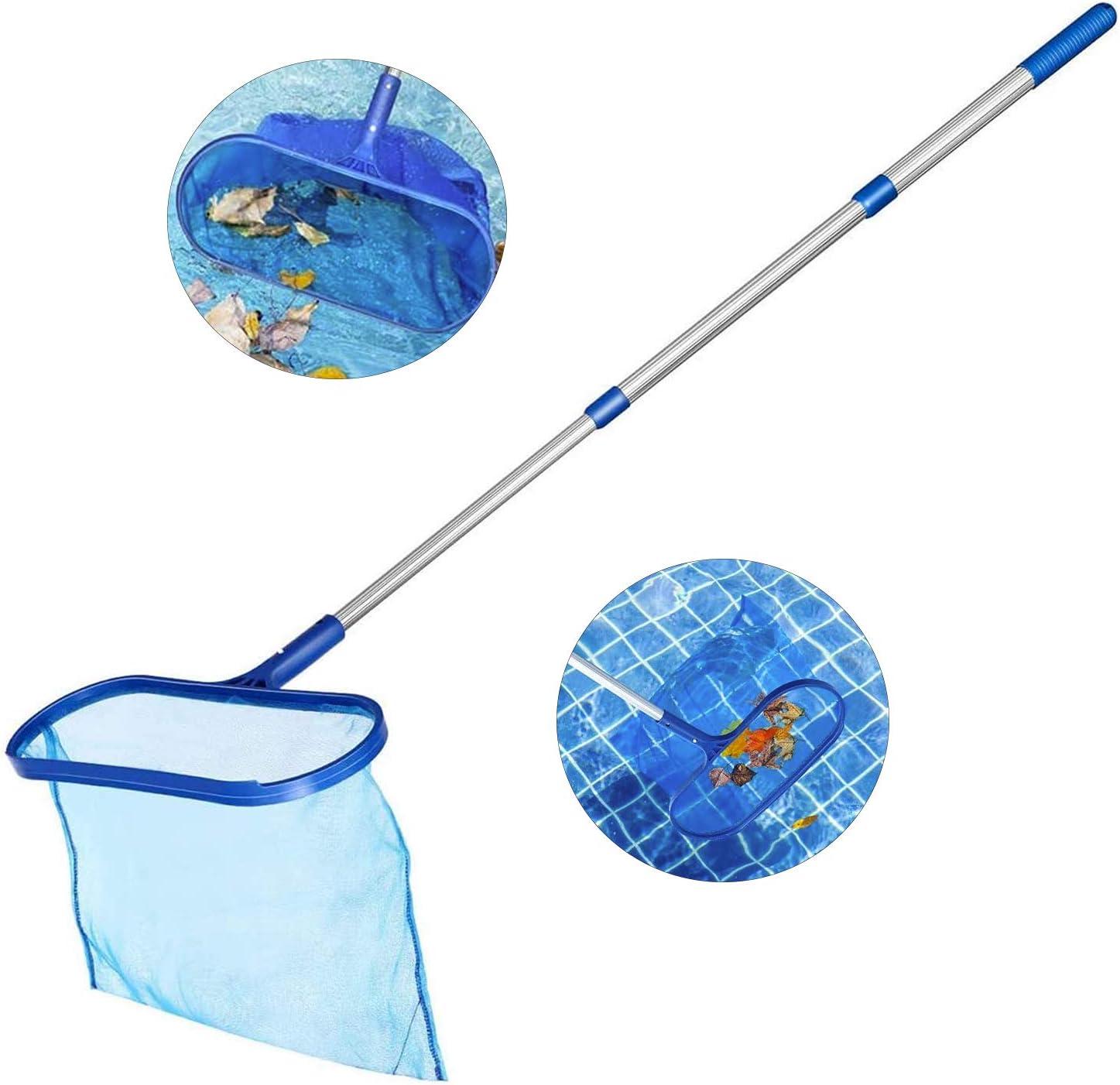 Gxhong Recogehojas de Piscina, Red para Piscinas con Poste de Aluminio de Recogehojas Piscina, Pool Skimmer Net para Recoger Hojas y Suciedad del Fondo