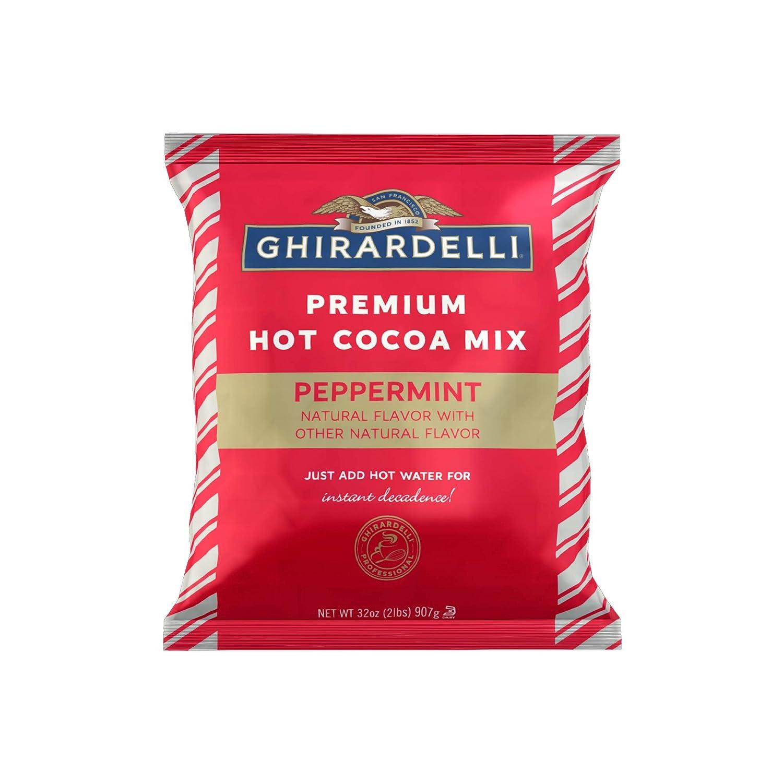 Ghirardelli Premium Hot Cocoa Mix, Peppermint Flavored, 32 oz