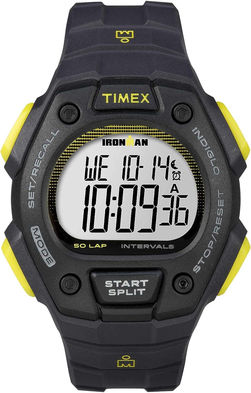 Timex Ironman 50 Lap Classic Watch Dark Grey/Lime