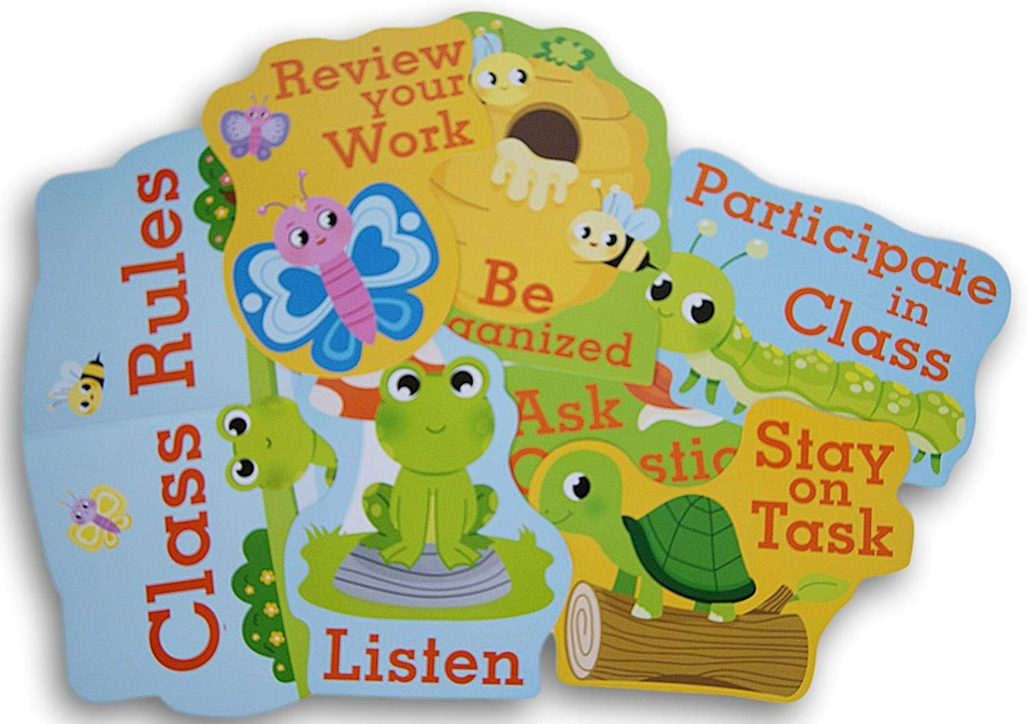 Teaching Tree Classroom Decor - Class Rules with Cute Forest Animal Theme - 7 Ct