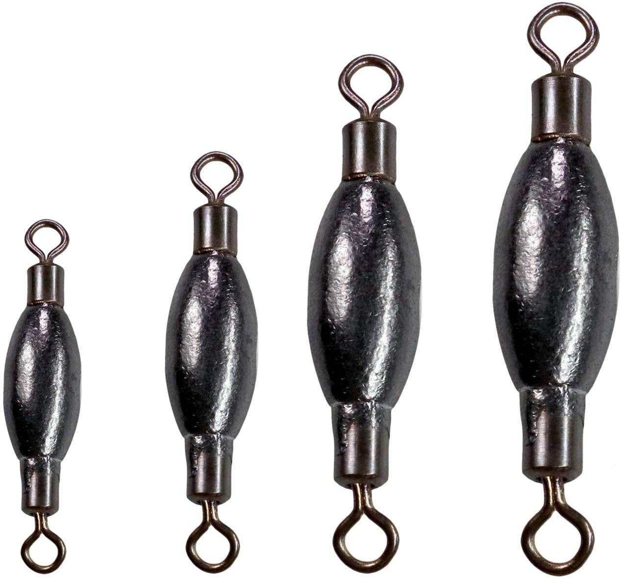 Fishing Weights Inline Weights Fishing Sinkers With Swivel 20 Pieces//Pack