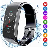 Fitness Tracker Activity Smart Bracelet Sports Watch with Pedometer IP67 Waterproof Sleep Heart Rate Monitor Compatible with Android IPhone for Men Women Kids