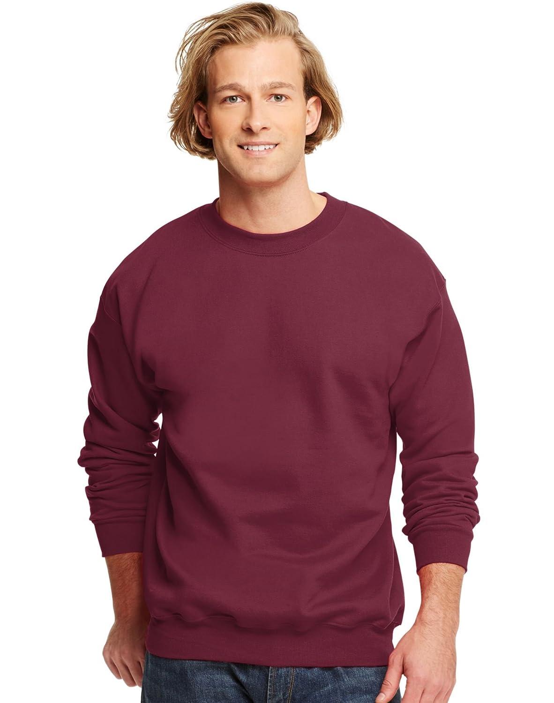 Hanes Mens Ultimate Cotton Crewneck Sweatshirt, Small, Maroon F260MR