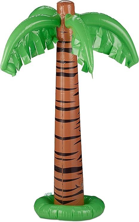 Relaxdays, Verde-Marrón, 80 cm de Altura Palmera Hinchable para ...