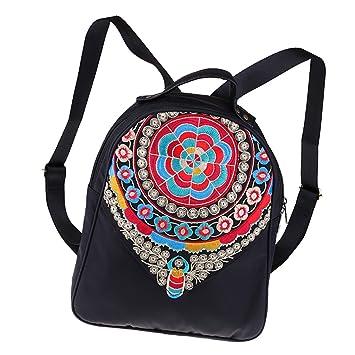 Baoblaze Vintage Étnico Bolsas Bordado Bolsos de Hombros para Mujeres Carteras - Tribu 1: Amazon.es: Hogar