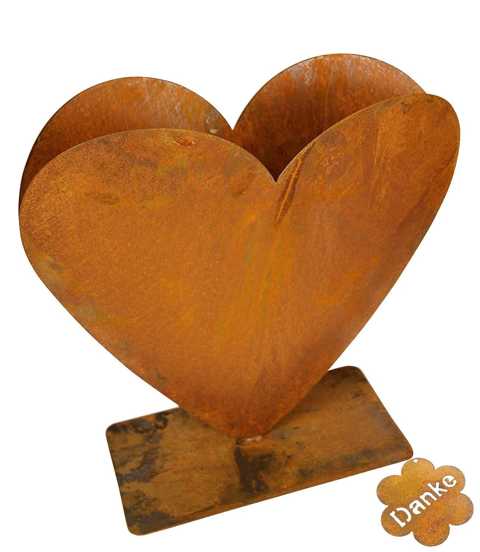 Bluemelhuber Herz zum Bepflanzen Rost Gartendeko Edelrost 30x30cm