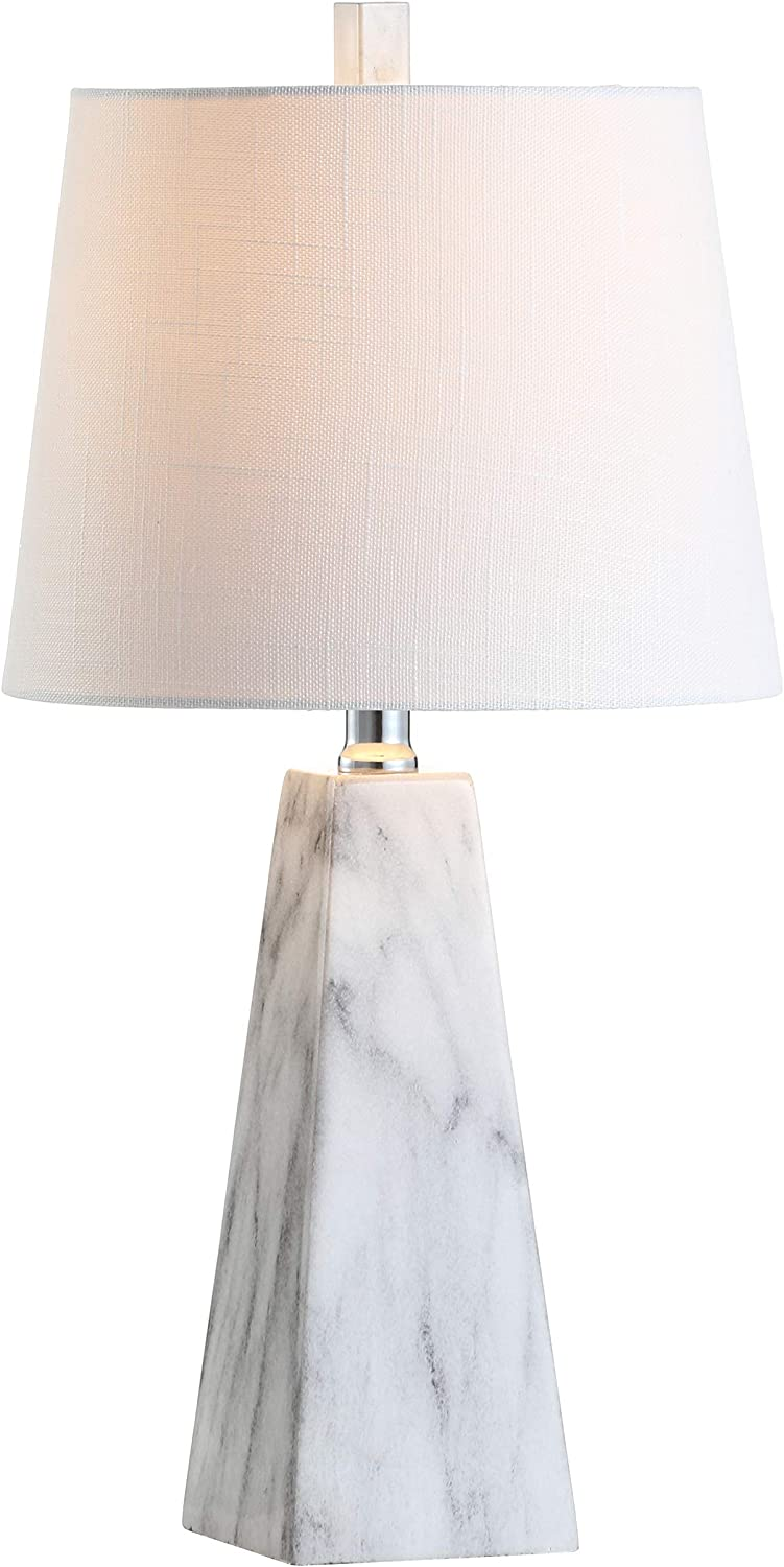 """JONATHAN Y JYL1037A Owen 20.5"""" Resin LED Lamp, Contemporary for Bedroom, Living Room, Office,College Dorm,Coffee Table,Bookcase, White"""