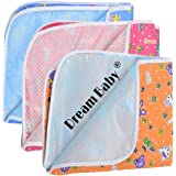 Dream Baby Waterproof Nappy Changing Mat Bedding - Set of 3(Multi-Color, 0-3)