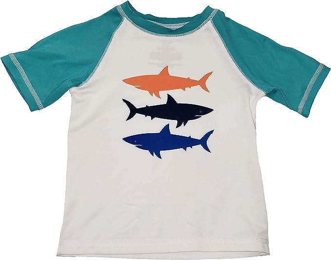 Toddler Boys Shark Rash Guard Shirt