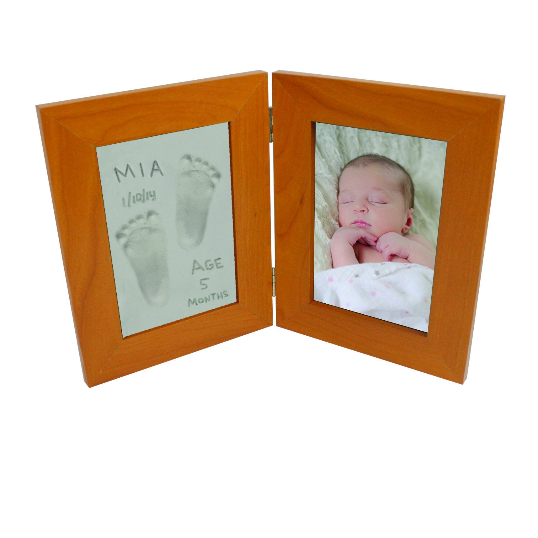 Baby Print Casting Kit - Air Dry No Mess Keepsake Kit with 4'' X 6'' Picture Frame - No Baking Required by Little Sprout (Image #2)