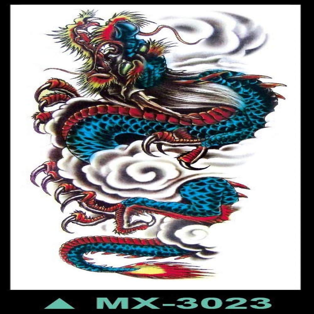 tzxdbh Etiqueta engomada del Tatuaje 3pcs-Brazo Completo Personal ...