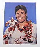 1991 Bob Probert 11 x 14 Lithograph Signed By