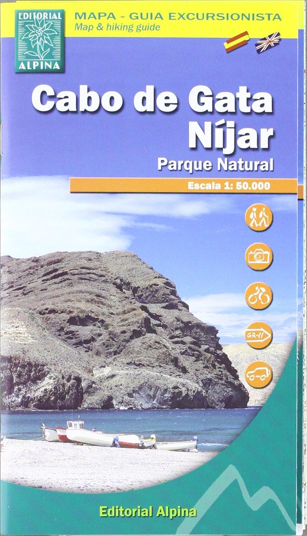 Cabo de Gata, Níjar parque natural. Mapa guía excursionista ...