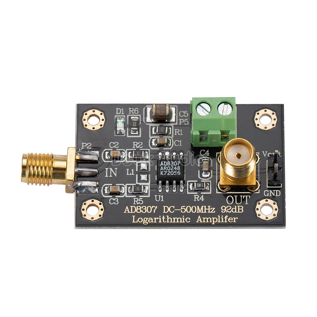 Nobsound Ad8307 Rf Power Detector Module Logarithmic Fast Amplifier Dc 500mhz Transmitter Test Home Audio Theater