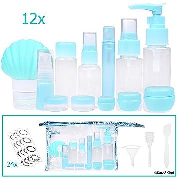 Amazon.com: Juego de botellas de viaje – rellenable – TSA ...