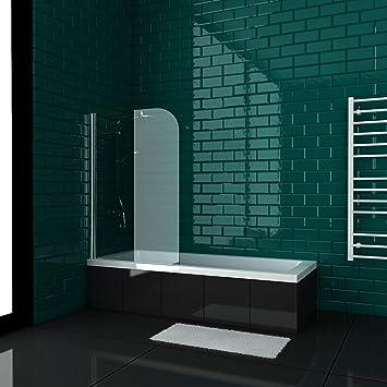 Alpenberger Cubic - Bañera (170 x 70/180 x 80) con mampara de ducha, nanorrevestimiento de doble