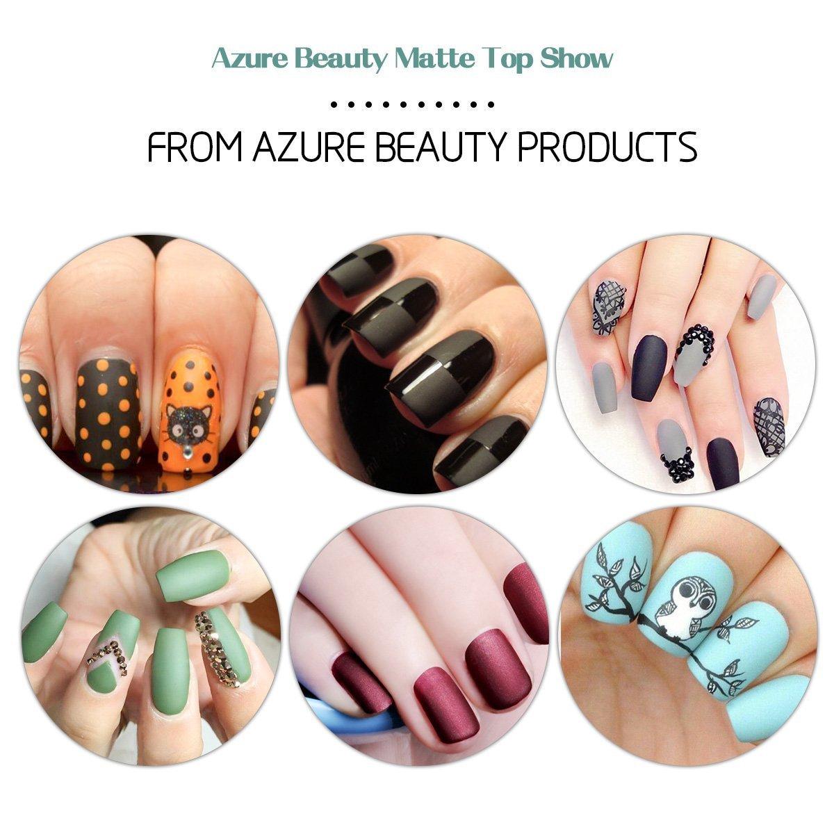 Azure Beauty UV LED Nagellack Gel Matt Top Coat Überlack Gel Gellack ...