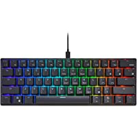 RK ROYAL KLUDGE RK61 Wired 60% Mechanical Gaming Keyboard RGB Backlit Ultra-Compact Blue Switch Black