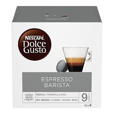 Nescafé Dolce Gusto Barista Café Expreso, 6 paquetes de 16 cápsulas [96 cápsulas]