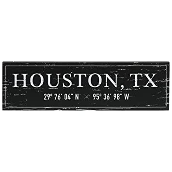 Amazon com: Barnyard Designs Houston, TX City Sign Rustic