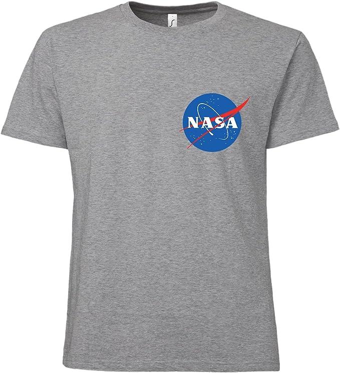 ShirtWorld - Camiseta con el logo de la NASA gris (melange) XXXXL: Amazon.es: Ropa y accesorios