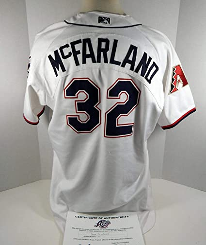 2017 Reno Aces T.J. McFarland #32 Game Used White Jersey DP01426 ...