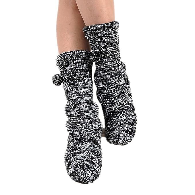 Withered-Sock Slippers - Calcetines de estar por casa - para mujer Azul azul Talla única: Amazon.es: Ropa y accesorios