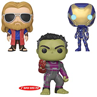 """Funko Marvel: Avengers Endgame Collectors Set 3 - Rescue, Casual Thor, 6"""" Hulk with Gauntlet"""