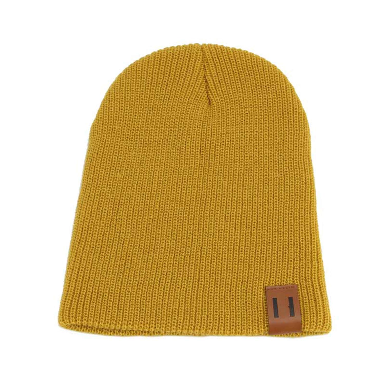FUZE Men Women Knit Cap Knitted Hat Skullies Warm Winter Unisex Ski Hip Hop Hat