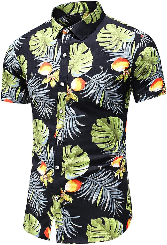 Wukclk, camicia a maniche corte, da uomo, casual, hawaiana, floreale, taglie forti 5XL, 6XL, 7XL 9019 Giallo