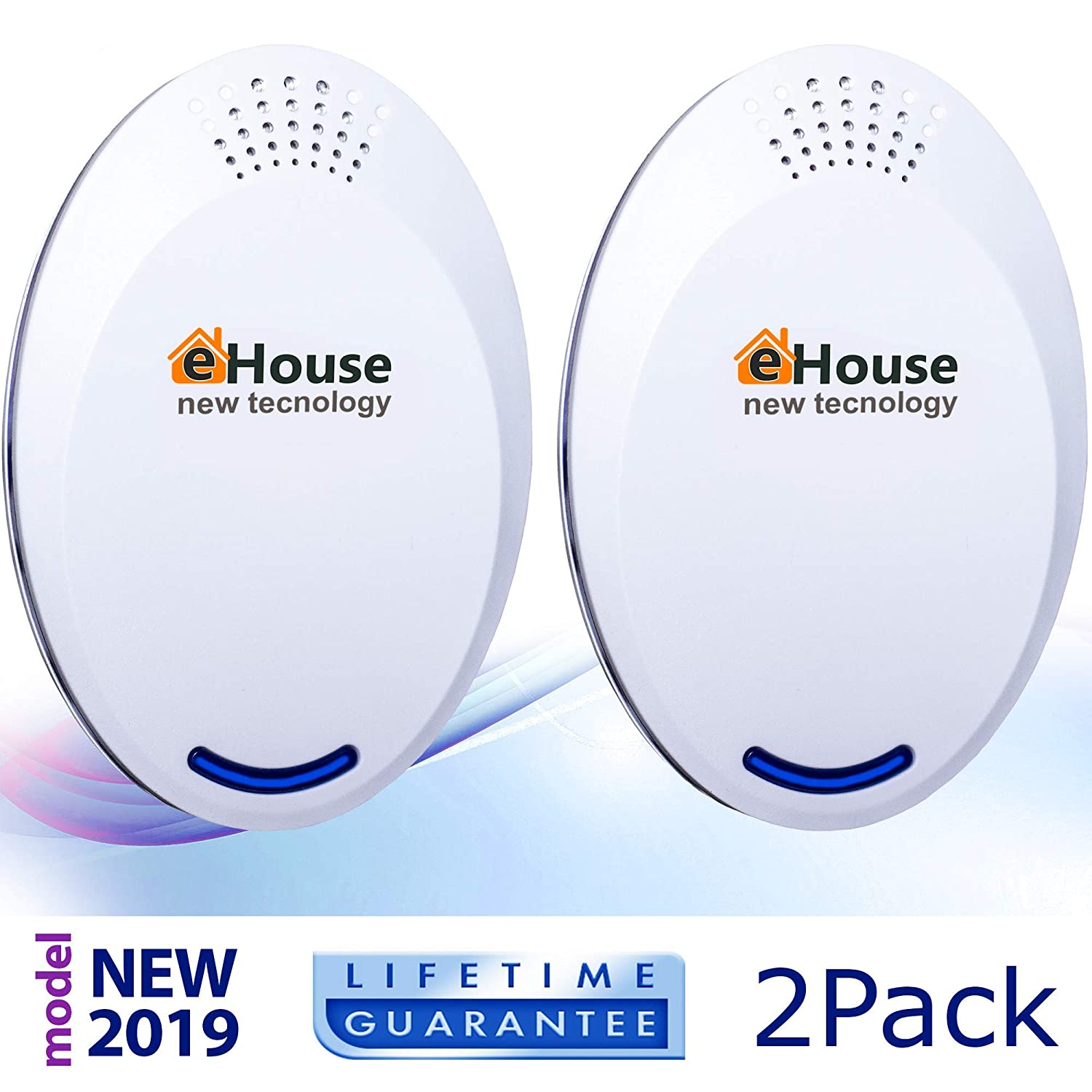 EHOUSE Indoor Electronic Plug-in - Get Rid of - Rodents, Squirrels, Mice, Rats, Insects - Roaches, Spiders, Fleas, Bed Bugs, Flies, Ants, Mosquitos, Fruit Fly! (2 Pack BH-4)
