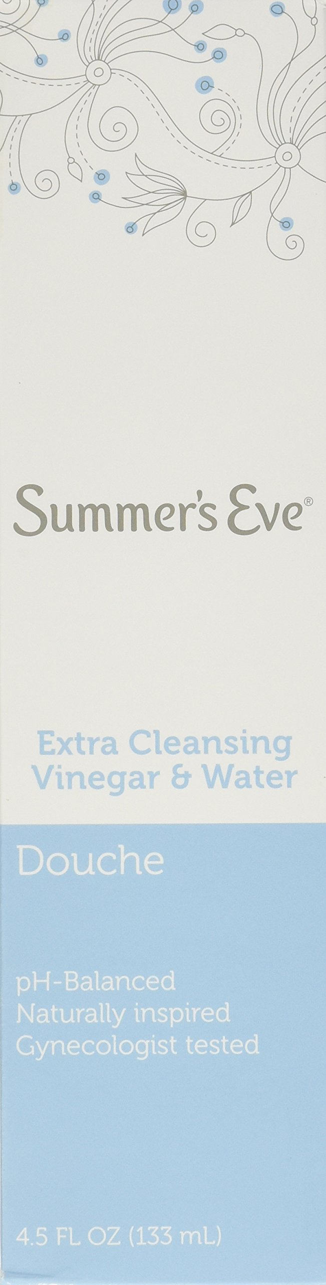 Summer's Eve Douche Extra Cleansing Vinegar & Water 4.5 Fl Oz/133 Ml(Pack of 6)