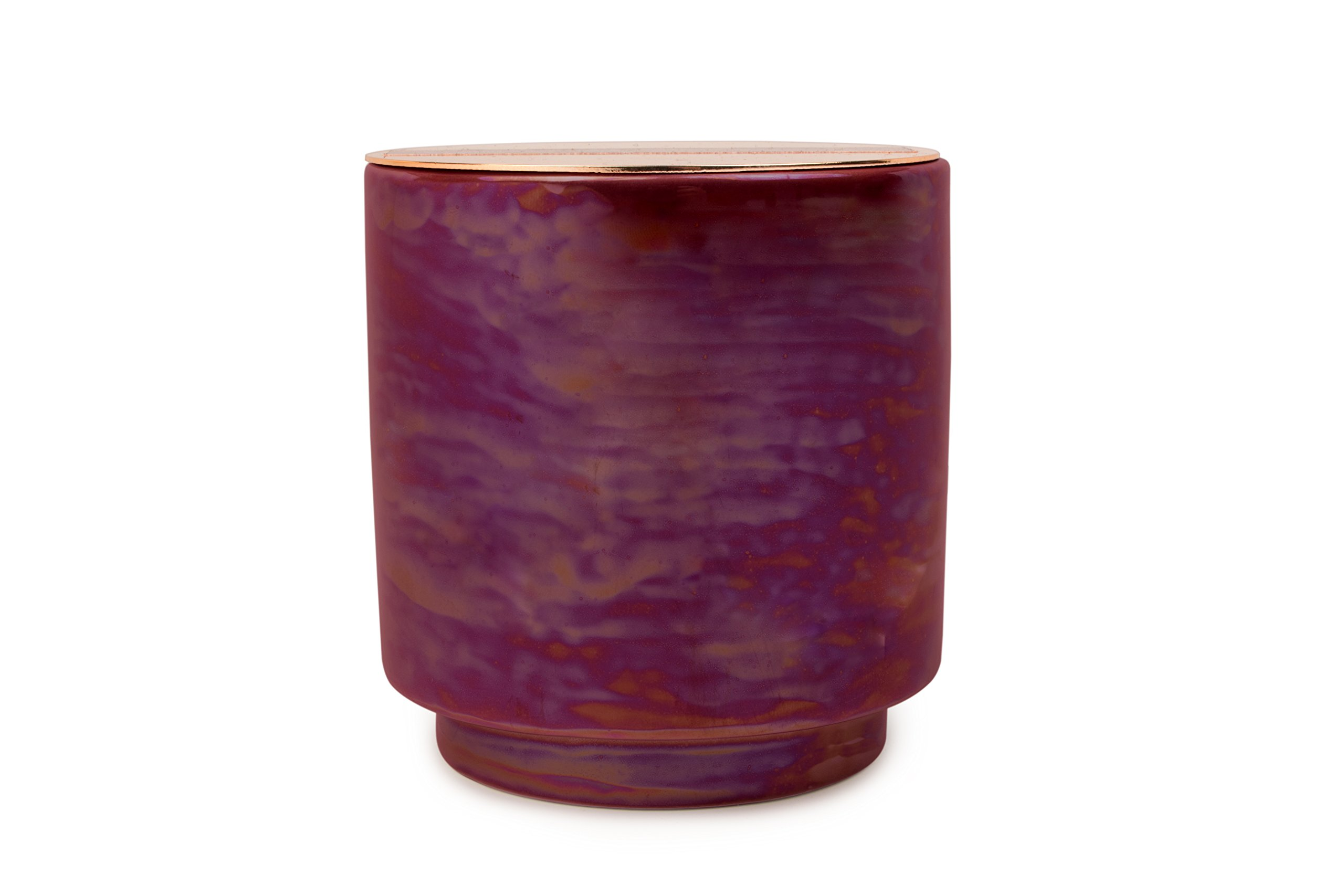 Paddywax Candles Glow Collection Scented Soy Wax Blend Candle in Iridescent Ceramic Pot, Medium- 17 Ounce, Cranberry & Rosé by Paddywax Candles (Image #1)