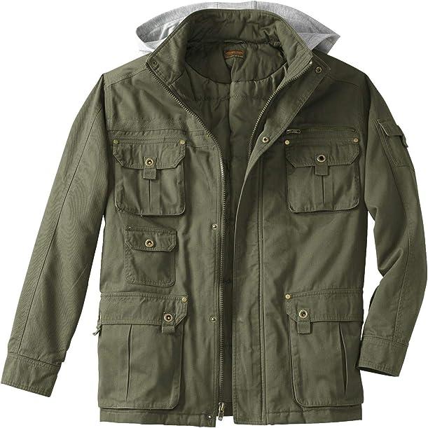 Boulder Creek Men's Big & Tall Multi-Pocket Twill Jacket