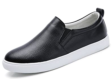 TSIODFO Women Slip on Loafers Flat Platform Breathable Comfort Walking  Shoes Genuine Cow Leather Fashion Sneakers 3b79370a18