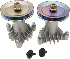q&p 2 PK 130794 Spindle with 153535 Pulley Rep.AYP 130794 with 153535 Pulley .Pulley Surface with Environmentally Friendly Zinc