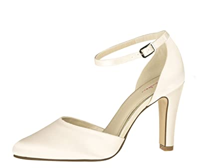Rainbow Club Brautschuhe Dana Ivory Satin Pumps Damen Amazon De