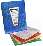 Hygloss Products Holographic Self-Adhesive Paper Sheets, Made in USA - 8-1/2 x 11 Inches, Assorted Colors, 5 Pack