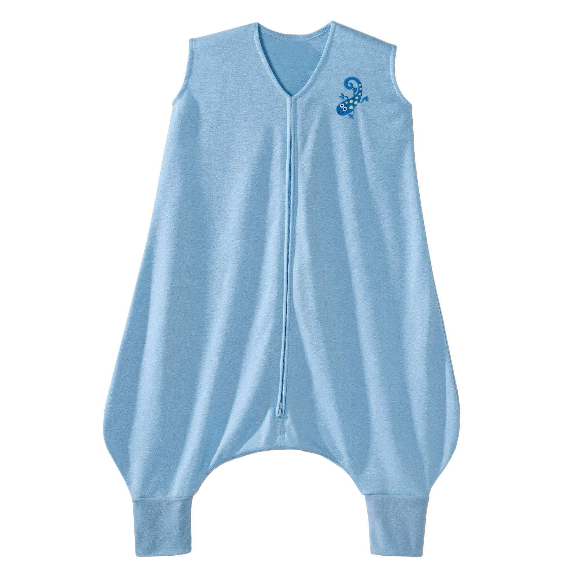 HALO Early Walker Sleepsack Lightweight Knit Wearable Blanket, Blue, Large