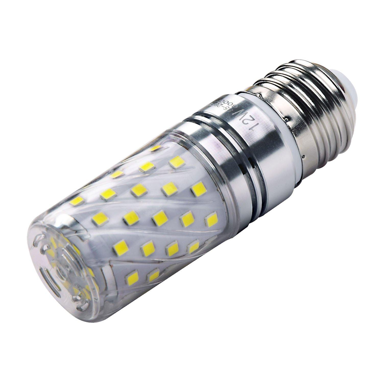 Hzsane E27 LED maíz bombilla, 12W, 6000K blanco frío LED bombillas, 100W incandescente bombillas equivalentes, 1200lm, Edison tornillo cilíndrico bombillas, ...