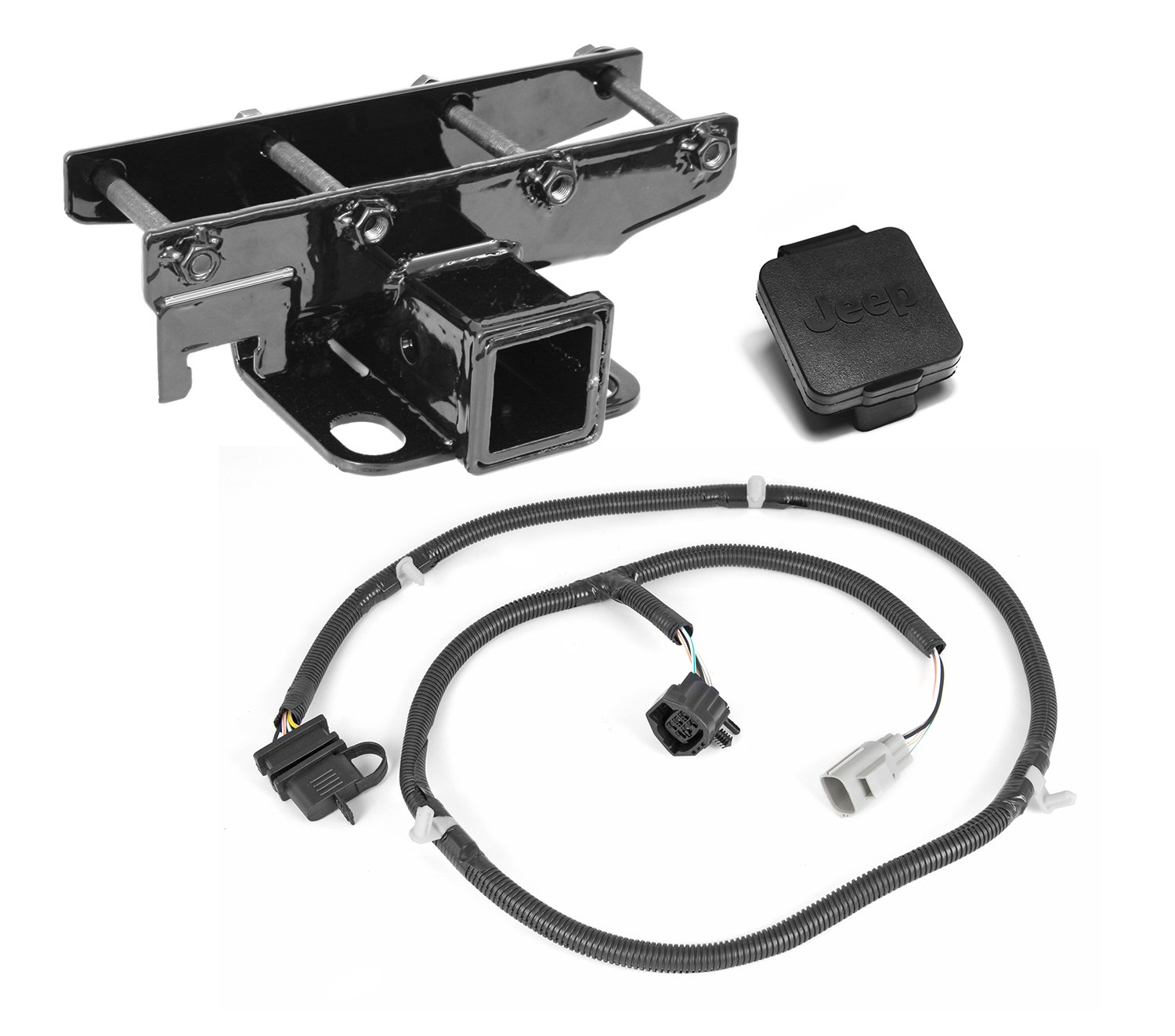 Amazon Rugged Ridge 1158052 2 Receiver Hitch Kit with Jeep – Jeep Hitch Wiring Diagram