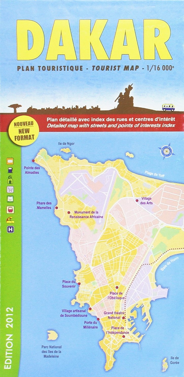 Dakar City Map (French and English Edition): Collectif ... on