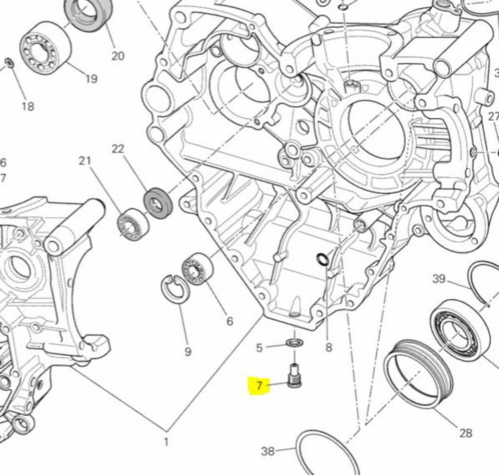 Ducati Oem Oil Drain Plug 89320062a Diavel Monster S4 Wiring Diagram Streetfighter Scrambler Automotive