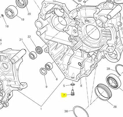 Amazon Com Ducati Oem Oil Drain Plug 89320062a Diavel Monster