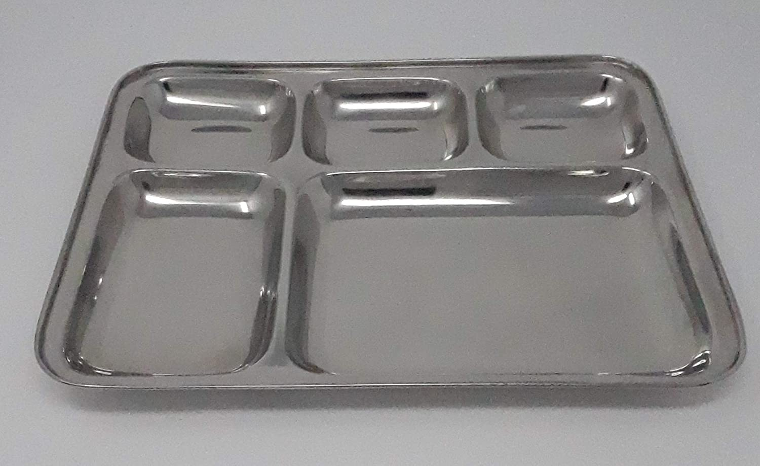 Hotel Serving Tray Stainless Steel Tea Fruit Plate Meat Drinks Dish Silver L