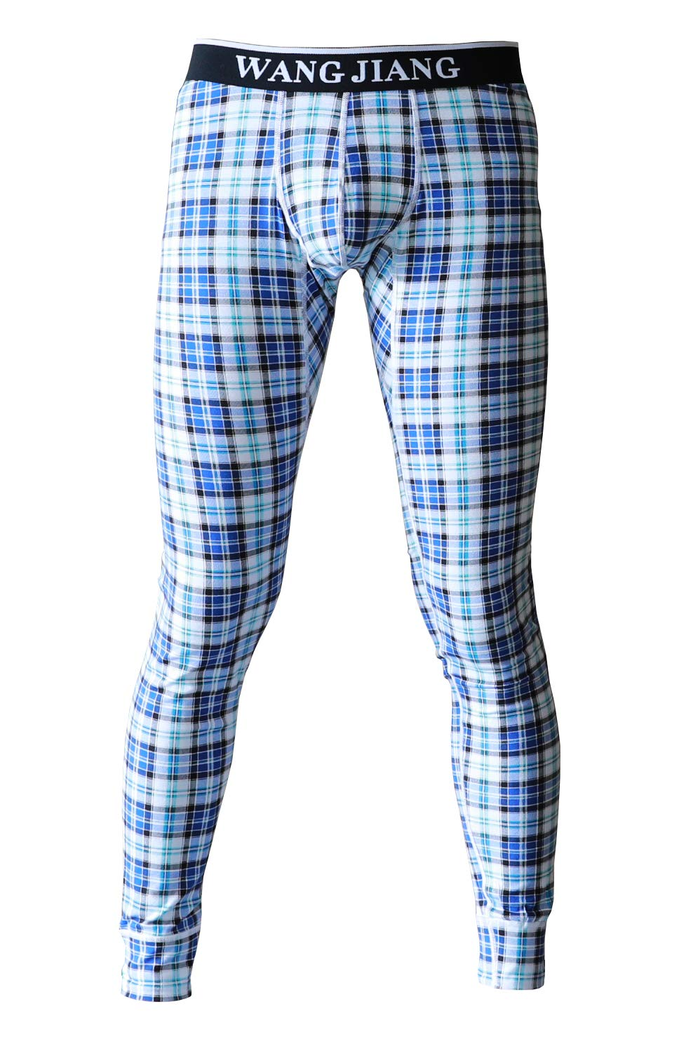 ARCITON Men's Low Rise Leggings Long Johns Thermal Pant US XL/with Tag XXL(Waist: 38''- 40'') Plaid Blue by ARCITON